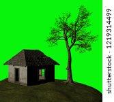 abandoned house  3d illustration | Shutterstock . vector #1219314499