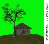 abandoned house  3d illustration | Shutterstock . vector #1219314520