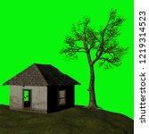 abandoned house  3d illustration | Shutterstock . vector #1219314523