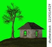 abandoned house  3d illustration | Shutterstock . vector #1219314529