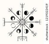 sacred geometry. galdrasta r.... | Shutterstock .eps vector #1219322419