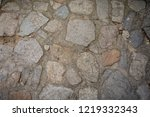 texture with cobble stone ...   Shutterstock . vector #1219332343