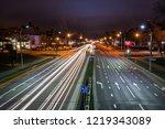 long exposure abstract urban...   Shutterstock . vector #1219343089