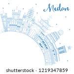 outline medan indonesia city... | Shutterstock .eps vector #1219347859