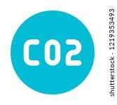 carbon dioxide formula | Shutterstock .eps vector #1219353493
