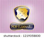golden emblem or badge with... | Shutterstock .eps vector #1219358830