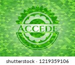 accede green emblem with... | Shutterstock .eps vector #1219359106