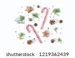 christmas composition.... | Shutterstock . vector #1219362439