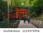 traveler at fushimi inari... | Shutterstock . vector #1219373956
