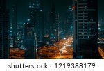 night panorama of a large... | Shutterstock . vector #1219388179