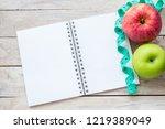 weight loss program written on... | Shutterstock . vector #1219389049