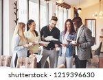 coffee break business cafe... | Shutterstock . vector #1219396630
