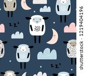 seamless pattern with cute... | Shutterstock .eps vector #1219404196