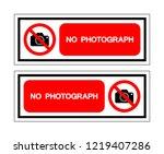 no photograph symbol sign... | Shutterstock .eps vector #1219407286