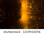 aerial night view of all saints'... | Shutterstock . vector #1219410256