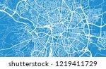 urban vector city map of dijon  ... | Shutterstock .eps vector #1219411729