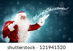 christmas theme with santa... | Shutterstock . vector #121941520