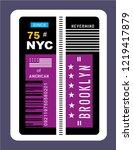 new york city nyc brooklyn... | Shutterstock .eps vector #1219417879