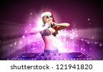 young brunette woman in...   Shutterstock . vector #121941820