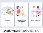 interface ux  ui gui screen... | Shutterstock .eps vector #1219433173