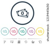 more banknotes with portrait... | Shutterstock .eps vector #1219445650