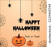 halloween backgrounds with... | Shutterstock .eps vector #1219445749