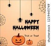 halloween backgrounds with...   Shutterstock .eps vector #1219445749