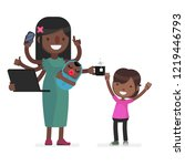multitask vector illustration | Shutterstock .eps vector #1219446793