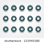 set of glossy vector icons  ... | Shutterstock .eps vector #121945180