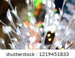 garland glowing many lights on...   Shutterstock . vector #1219451833