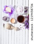 lavender spa  beauty product... | Shutterstock . vector #1219458736