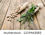 herbal plants and medicine... | Shutterstock . vector #1219463083