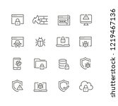data security related icons ... | Shutterstock .eps vector #1219467136