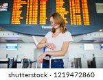 young woman in international... | Shutterstock . vector #1219472860