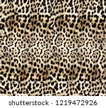 furry yellow leopard pattern | Shutterstock . vector #1219472926