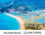 iztuzu beach view from hill in... | Shutterstock . vector #1219474990