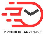 clock icon with fast rush... | Shutterstock .eps vector #1219476079