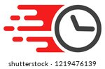 clock icon with fast speed... | Shutterstock .eps vector #1219476139