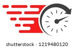 time icon with fast speed... | Shutterstock .eps vector #1219480120