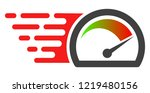 speed gauge icon with fast... | Shutterstock .eps vector #1219480156