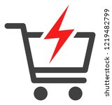 instant shopping icon on a...   Shutterstock .eps vector #1219482799