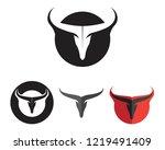 bull horn logo and symbols... | Shutterstock .eps vector #1219491409
