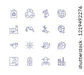 ecology icons. set of line... | Shutterstock .eps vector #1219492276