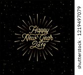 happy new year 2019 card with... | Shutterstock .eps vector #1219497079