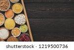 choose your porridge. cereals... | Shutterstock . vector #1219500736