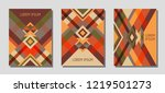 set of cover page layouts ... | Shutterstock .eps vector #1219501273