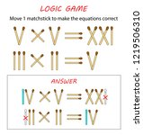 logic game for kids. puzzle... | Shutterstock .eps vector #1219506310