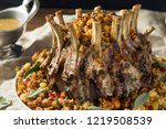homemade holiday crown of roast ... | Shutterstock . vector #1219508539