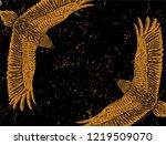 frame for grunge poster. black... | Shutterstock .eps vector #1219509070