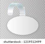 blank white wobbler hang on... | Shutterstock .eps vector #1219512499